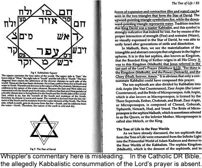two pages from book by Gonzalez Whippler, Kabbalah for the Modern